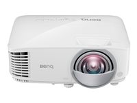 BenQ MX825ST - DLP projector - portable - 3D - 3300 ANSI lumens - XGA (1024 x 768) - 4:3 - short-throw fixed lens - LAN 9H.JGF77.13E