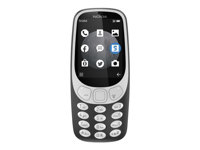 Nokia 3310 3G - Mobile phone - 3G - microSDHC slot - GSM - 320 x 240 pixels - 2 MP - charcoal A00028687